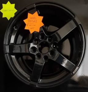 Powder coated alloy wheel